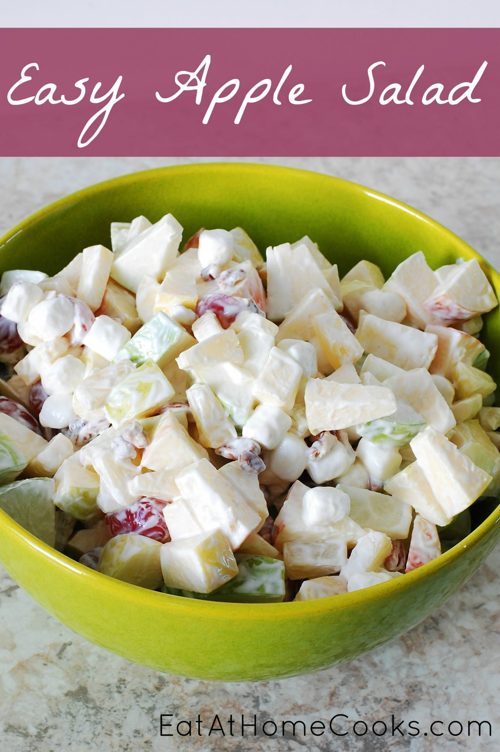 Easy Apple Salad - Recipes Salad With Apples