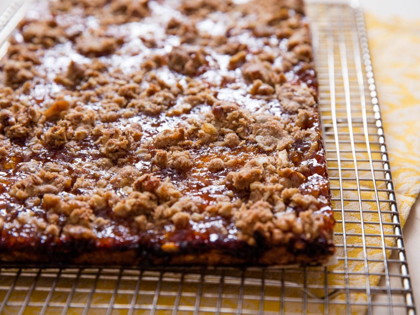 Easy Apricot Jam Bars With Walnuts Recipe - Dessert Recipes With Jam
