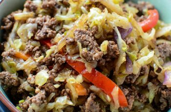 Easy Asian Beef & Cabbage Stir Fry!