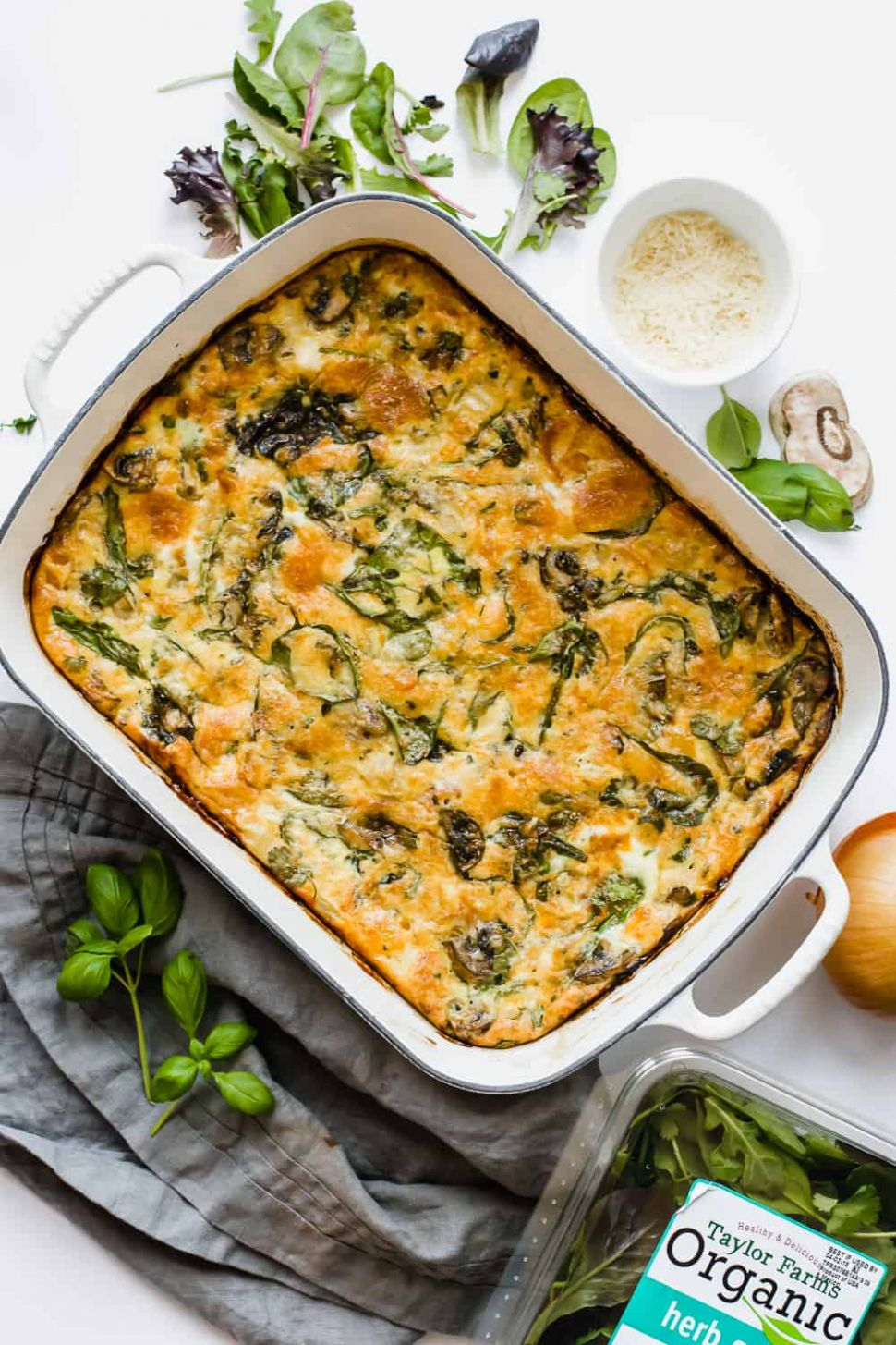 Easy Baked Frittata Recipe with Spinach (Gluten-Free) - Egg Recipes Gluten Free