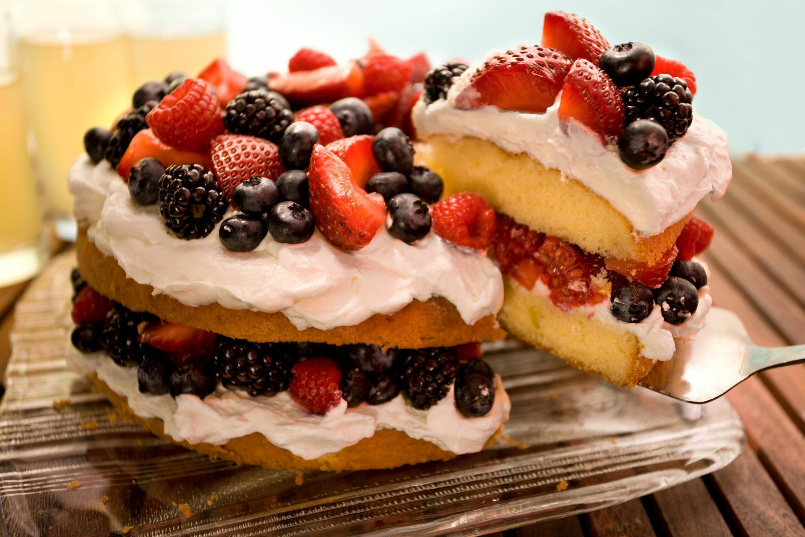 Easy Berry Butter Cake - Recipes Cake With Fruit