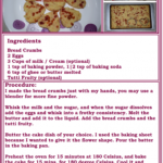 Easy Cake With Leftover Bread   Food Recipes, Dessert Recipes, Food – Dessert Recipes Ingredients And Procedure