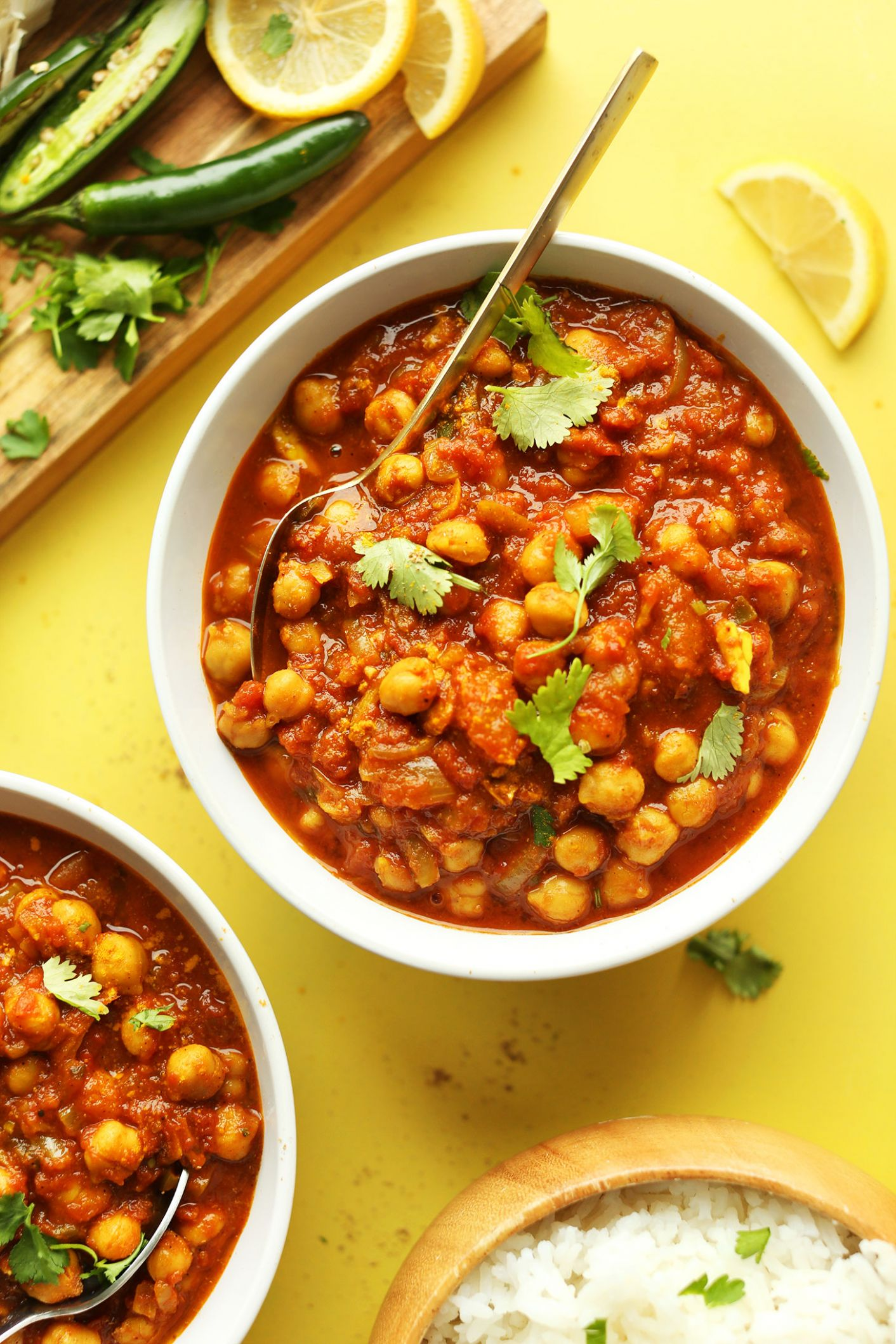 Easy Chana Masala - Healthy Recipes Vegetarian Indian