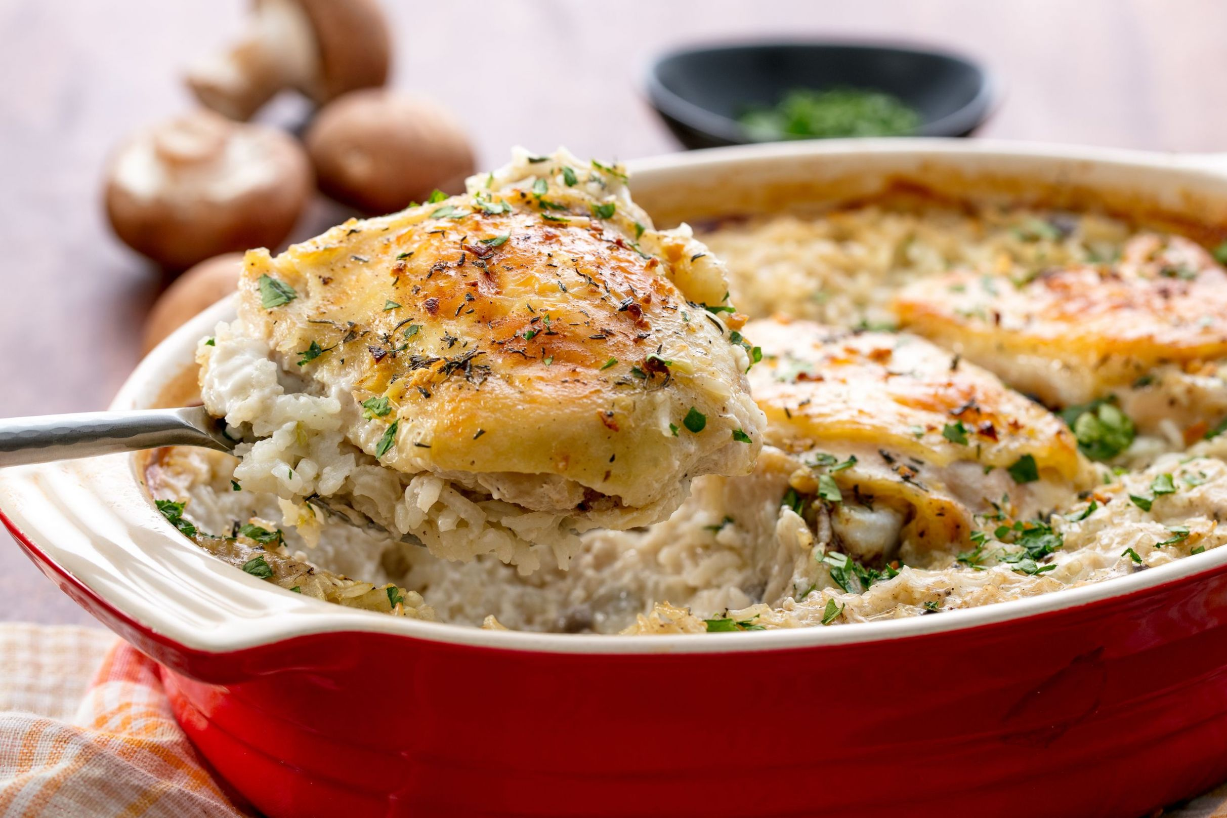 Easy Chicken and Rice Casserole - Rice Recipes Delish