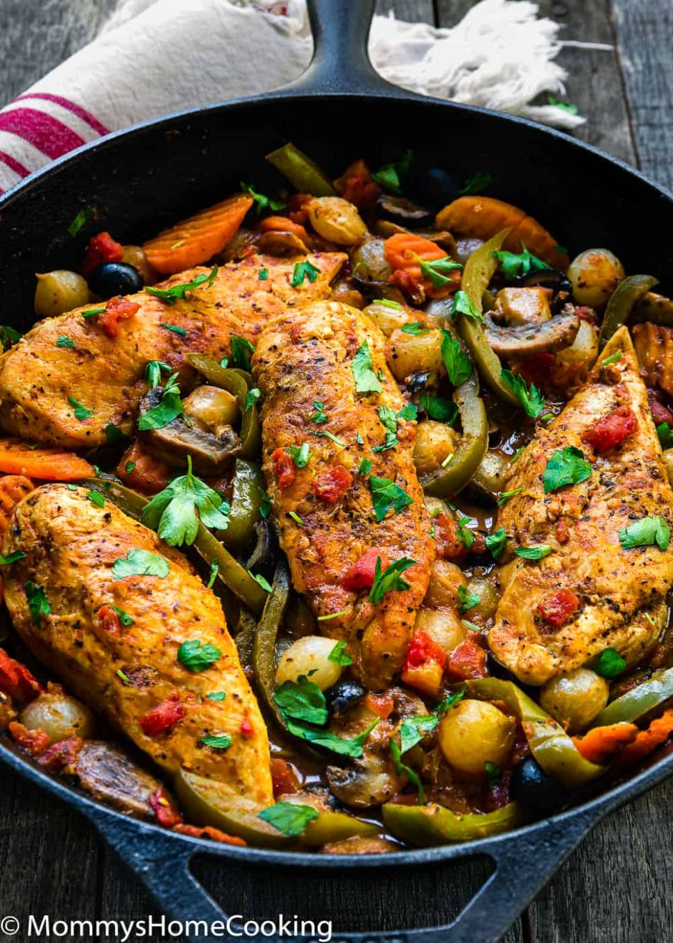 Easy Chicken Cacciatore - Recipes Chicken Breast Skillet