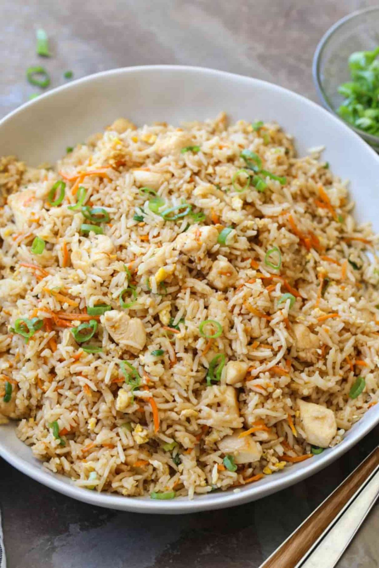 Easy Chicken Fried Rice - Recipes Rice And Chicken