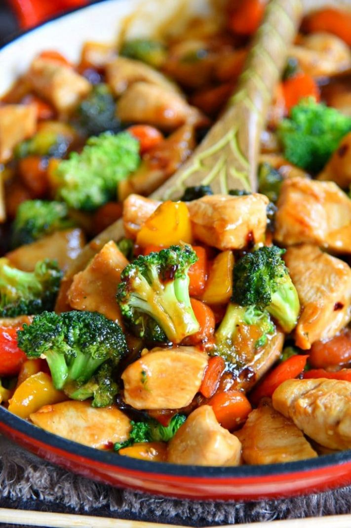 Easy Chicken Stir Fry Recipe - Mom On Timeout - Recipes Chicken Breast Asian