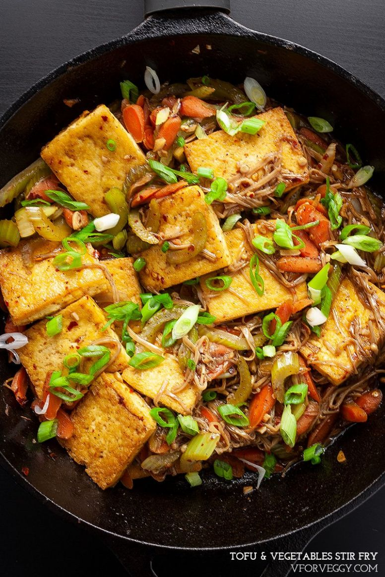 Easy Chinese Tofu & Vegetables Stir Fry - Vegetable Recipes Chinese