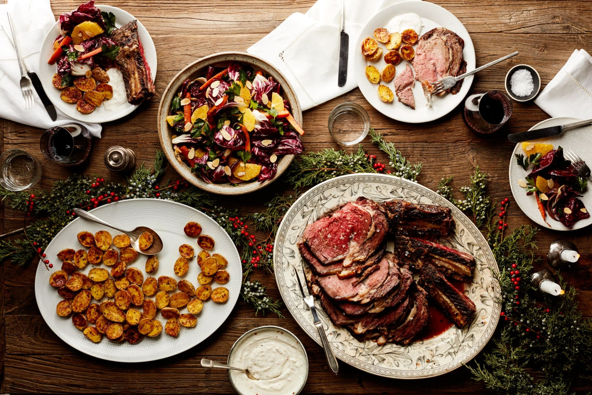 Easy Christmas Dinner Menu With Beef Rib Roast | Epicurious - Beef Recipes For Xmas Dinner
