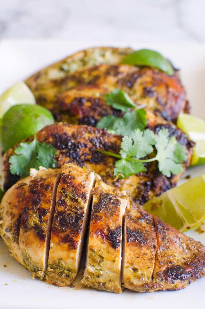 Easy Cilantro Lime Chicken (Video) - iFOODreal - Healthy Family ...