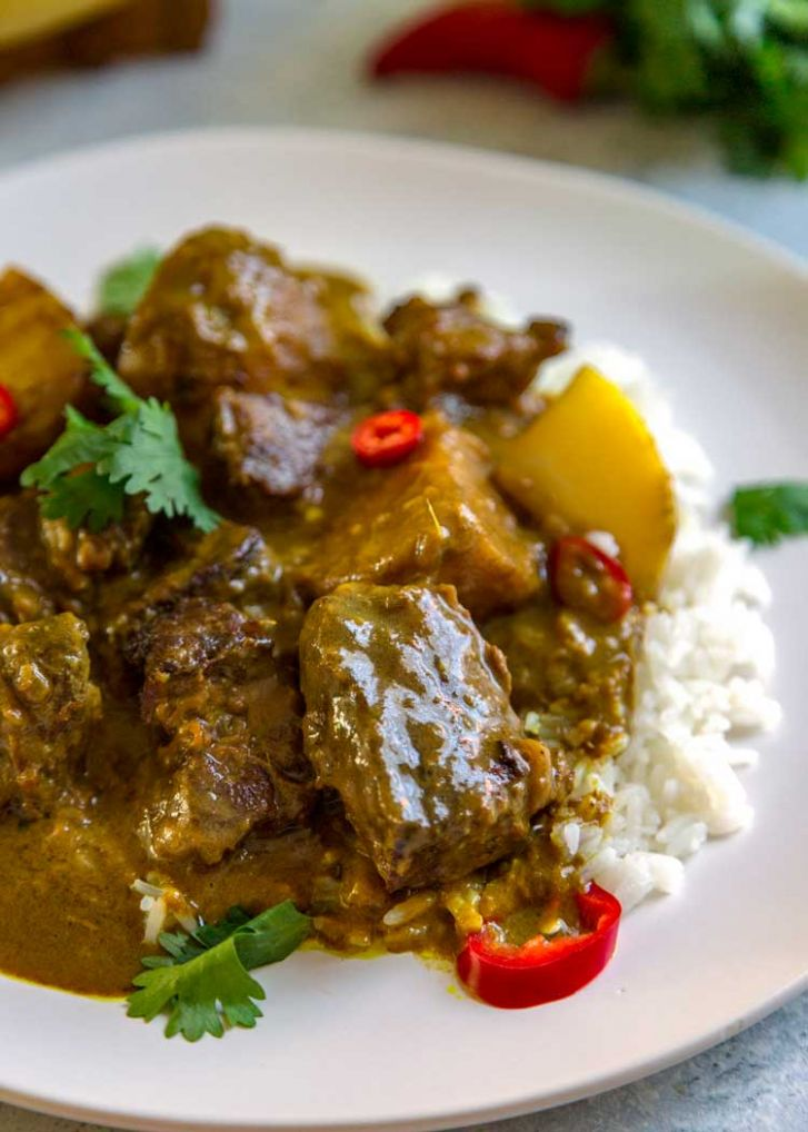 Easy Coconut Beef Curry Stew - Kevin Is Cooking - Recipes Beef Curry