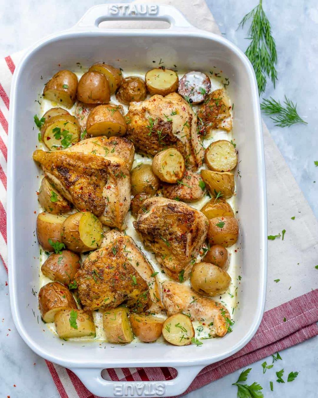 Easy Creamy Chicken Potato Bake | Healthy Fitness Meals - Recipes Chicken Breast With Potatoes