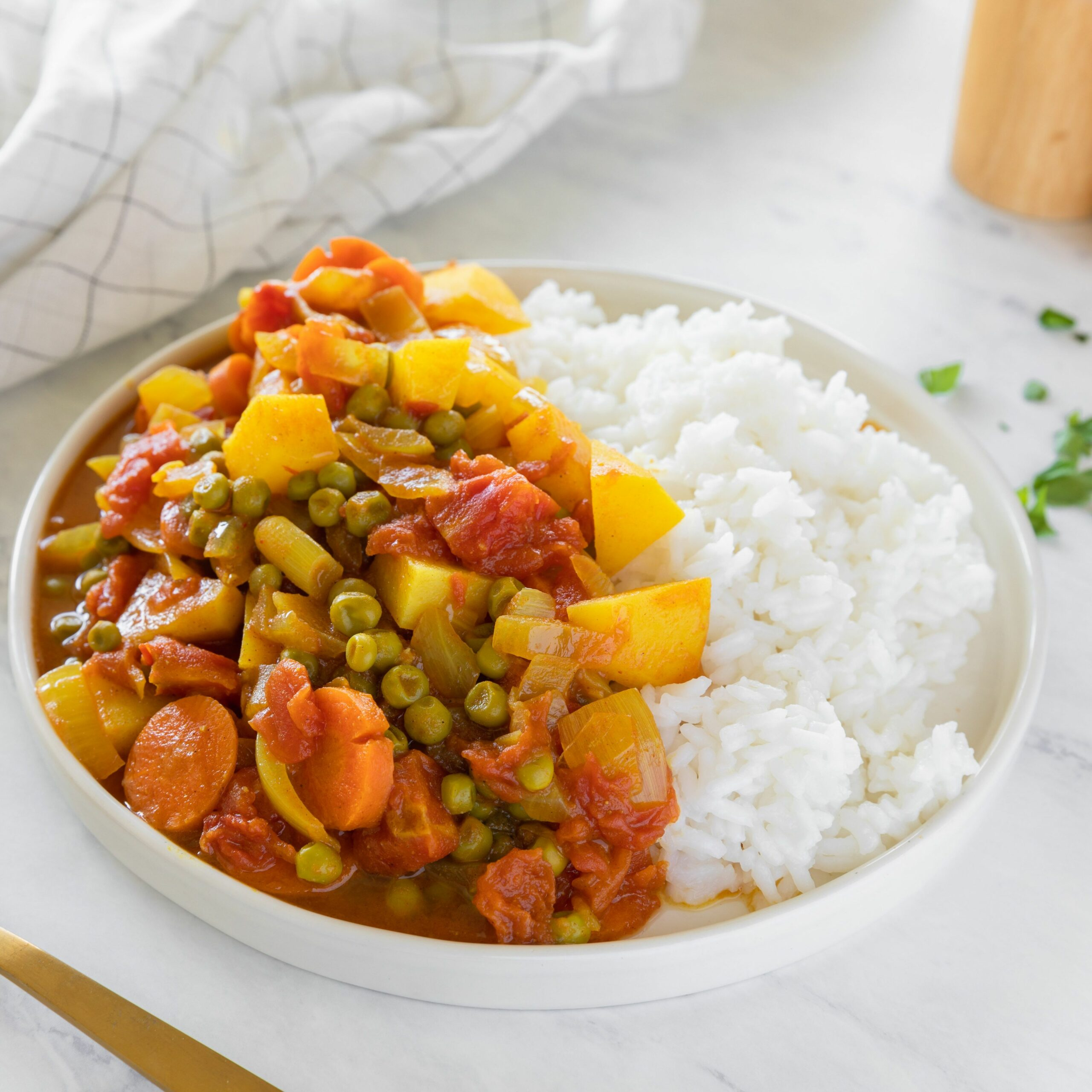 Easy Curried Indian Vegetables Recipe - Vegetable Recipes Indian