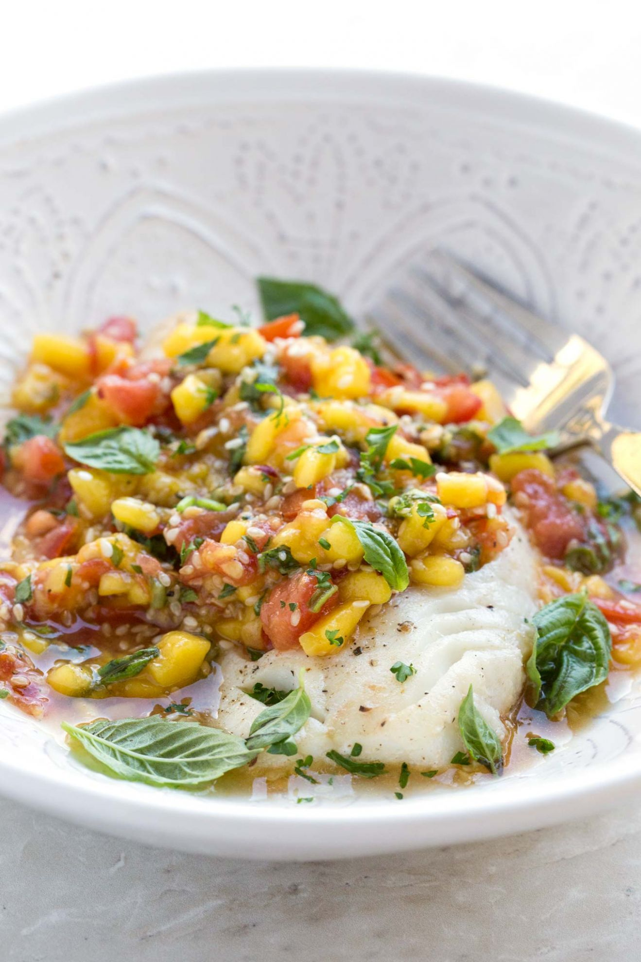 EASY FISH WITH MANGO SALSA | GARLIC MATTERS - Recipe Fish With Mango Salsa