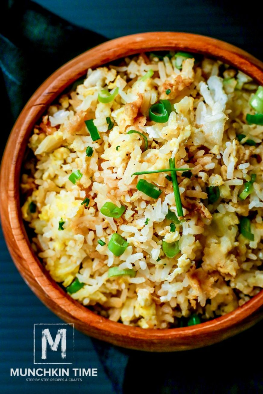 Easy Fried Rice Recipe with Eggs and Green Onion - tastes ..