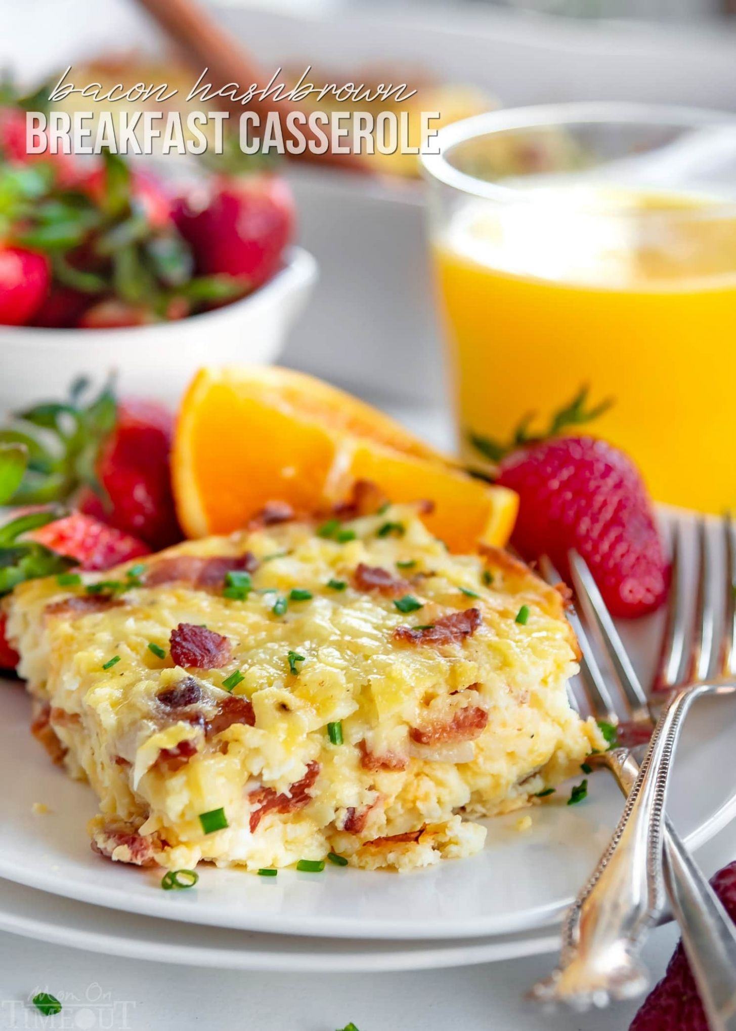 Easy Hashbrown Breakfast Casserole - Mom On Timeout - Recipes Egg Bake Hash Browns