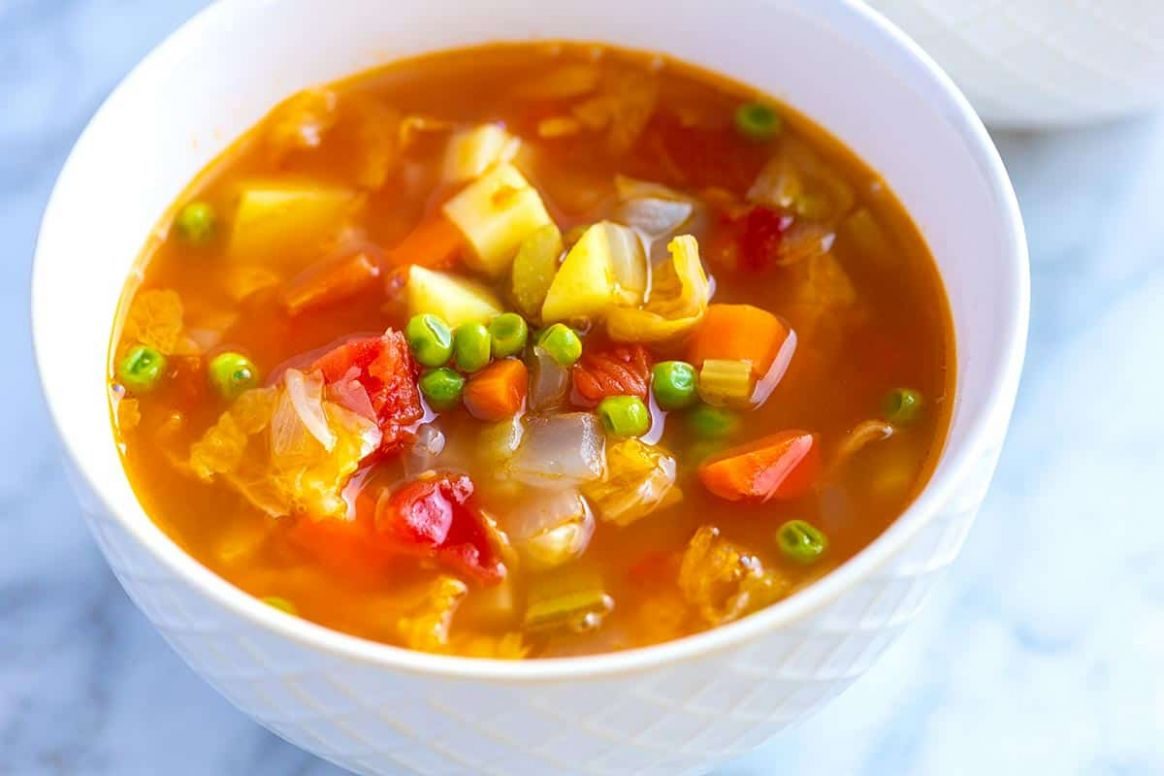 Easy Homemade Vegetable Soup - Soup Recipes Easy And Cheap