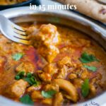 Easy Indian Chicken Curry in 9 Minutes