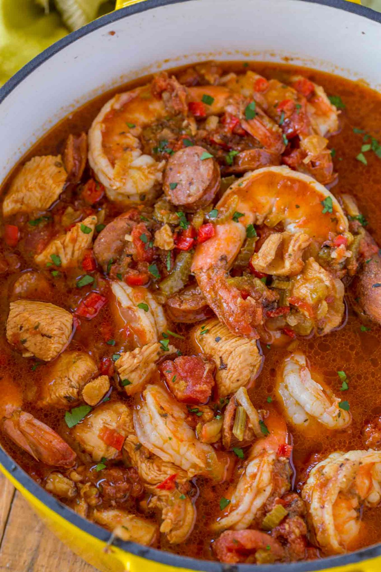 Easy Jambalaya Recipe (Chicken, Shrimp and Andouille Sausage) - Easy Recipes Jambalaya