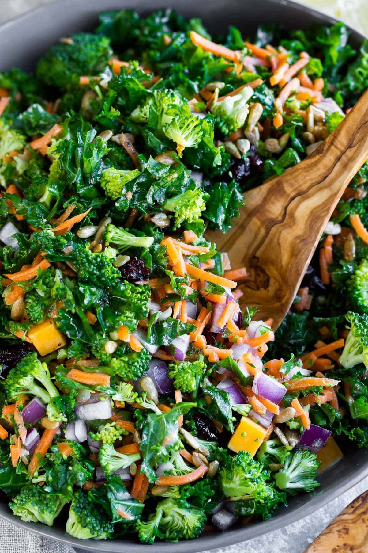 Easy Kale Salad with Fresh Lemon Dressing - Salad Recipes You Can Make Ahead