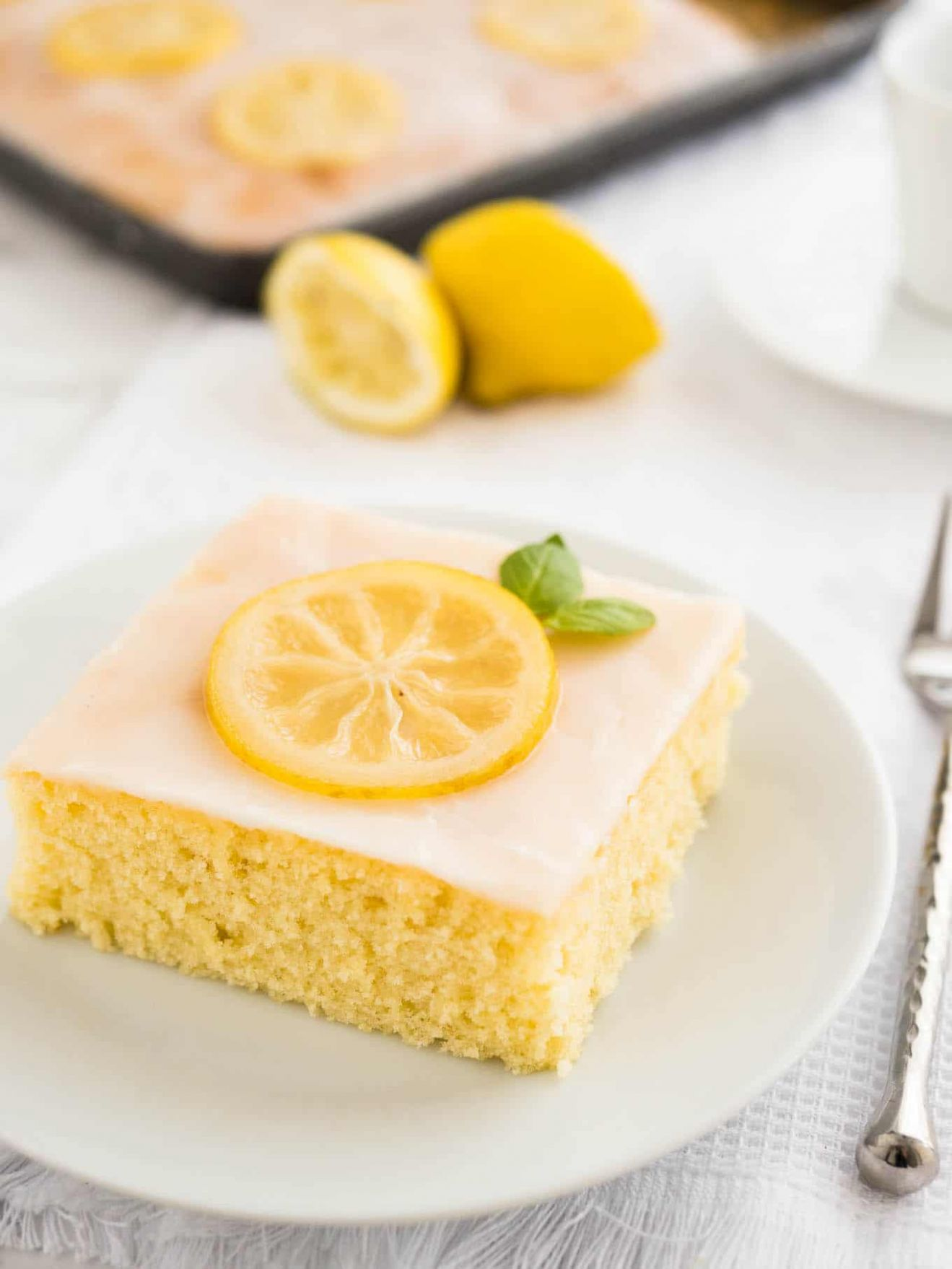 Easy Lemon Sheet Cake - Cake Recipes For 9 X 13 Pan