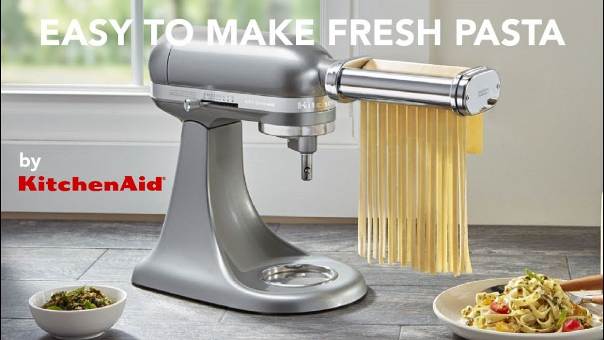 Easy made fresh pasta using the KitchenAid Pasta Attachments - Pasta Recipes Kitchenaid