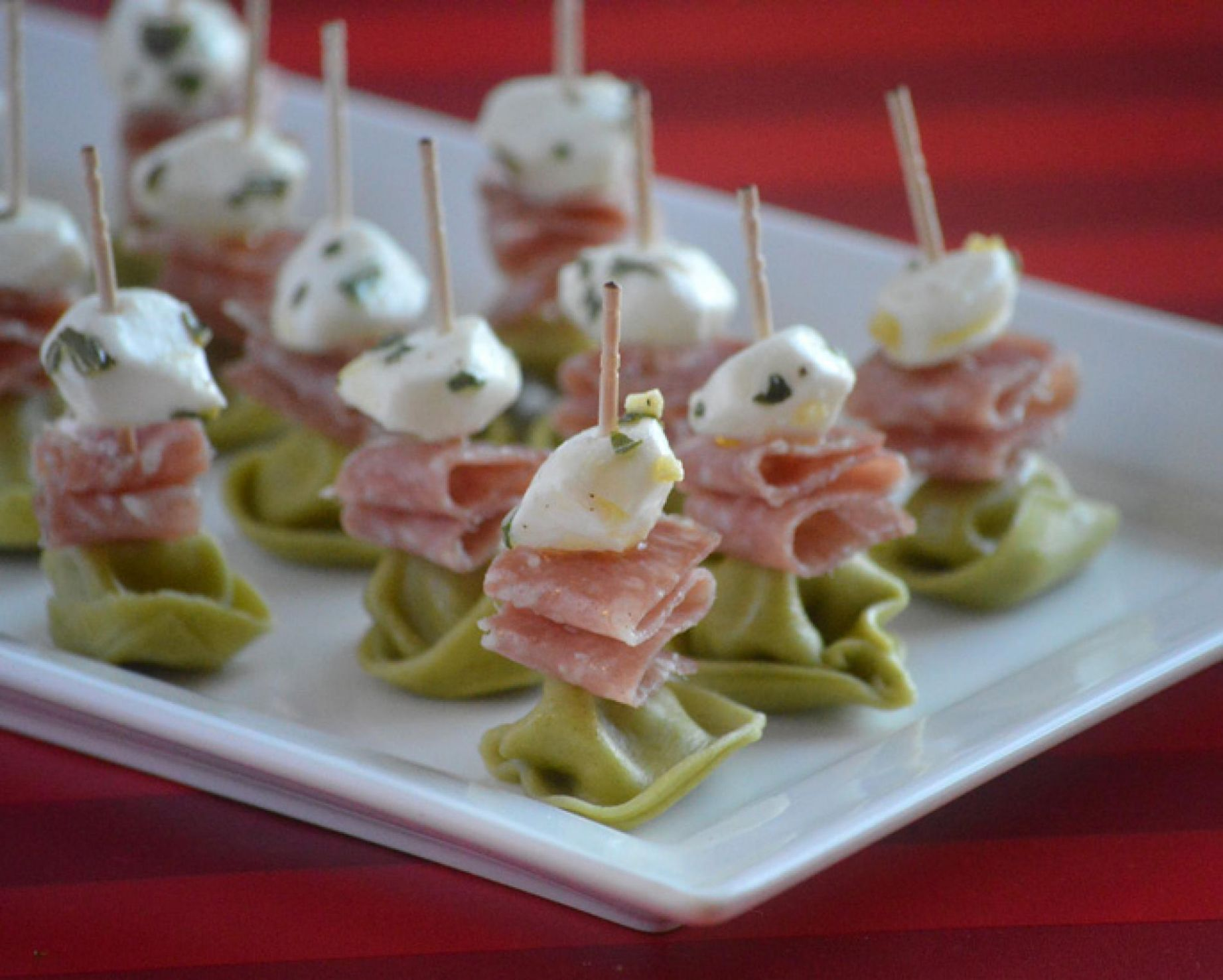 Easy Marinated Mozzarella and Tortellini Appetizer Recipe - Simple Recipes Appetizers
