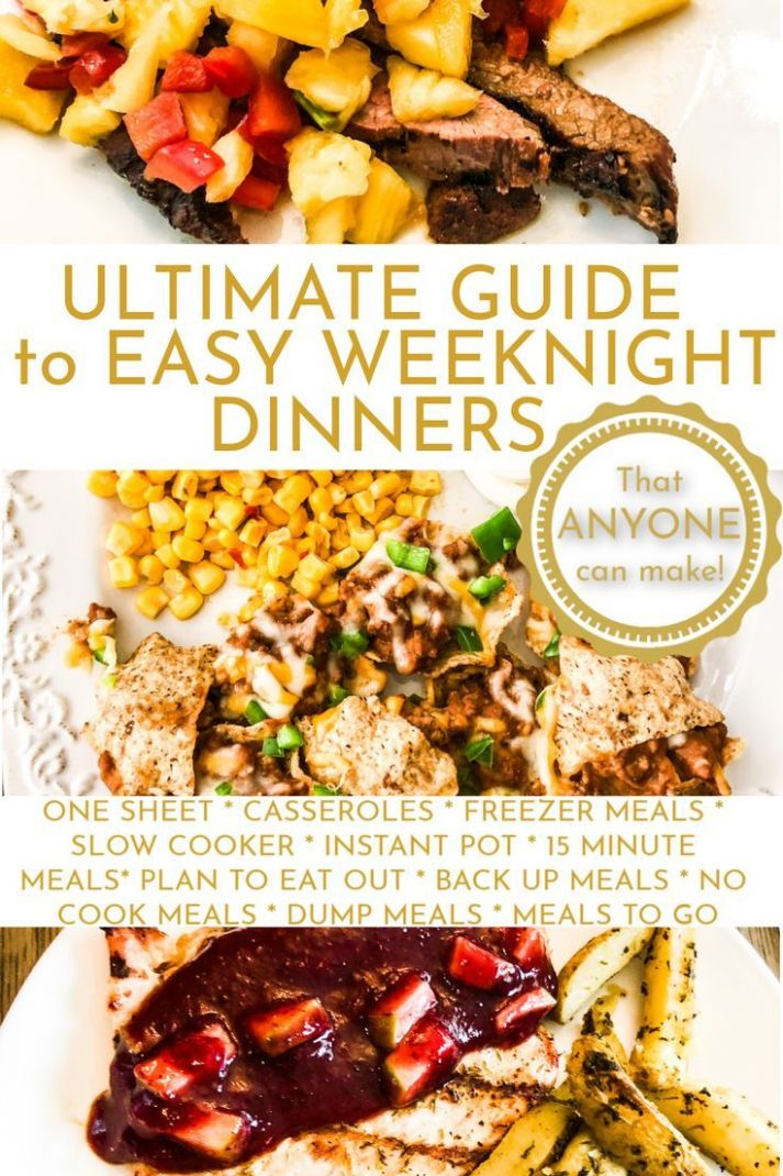Easy Meals: The Complete Guide. | Easy meals, Slow cooker freezer ..