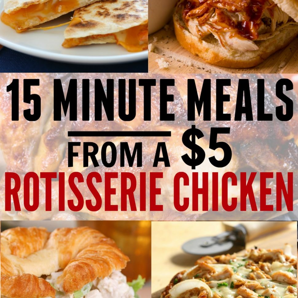 Easy Meals Using a Rotisserie Chicken - The Busy Budgeter - Easy Recipes Using Rotisserie Chicken