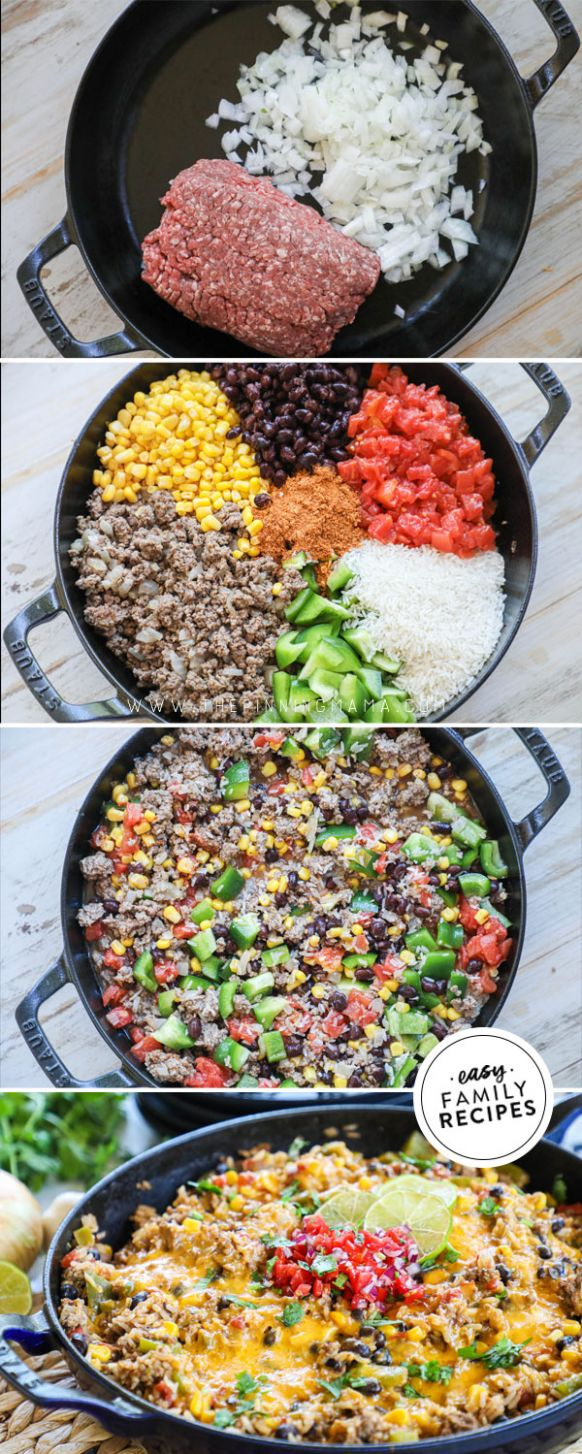 Easy Mexican Ground Beef and Rice · Easy Family Recipes - Easy Recipes Mexican