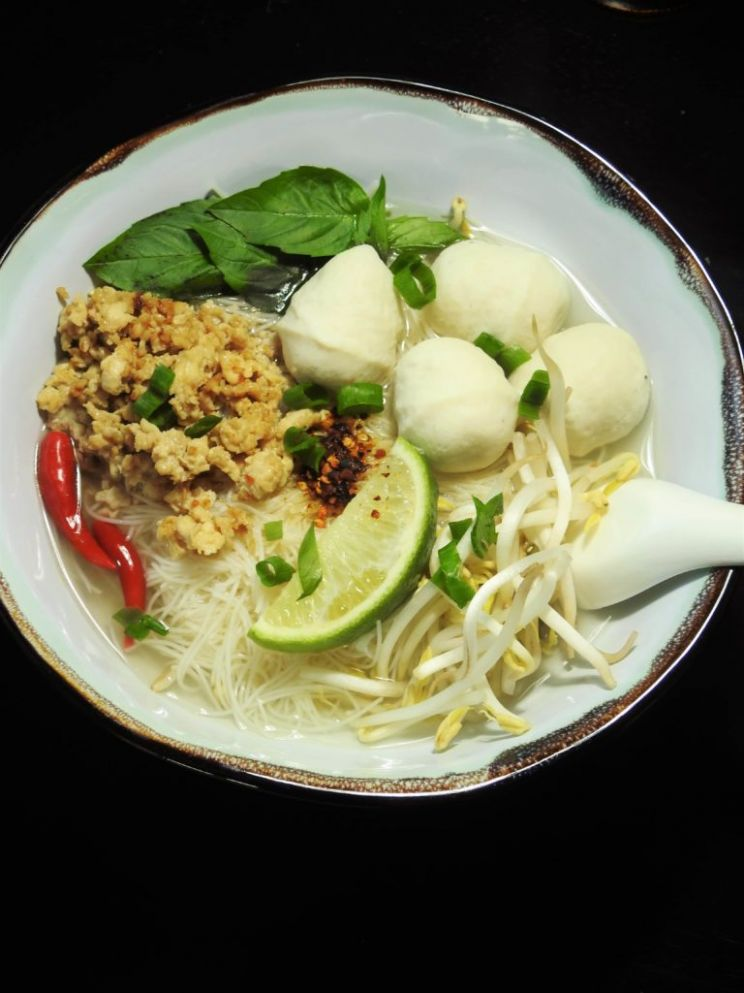 Easy Noodle Soup with Ground Chicken and Fish Balls - Recipe Fish Noodles