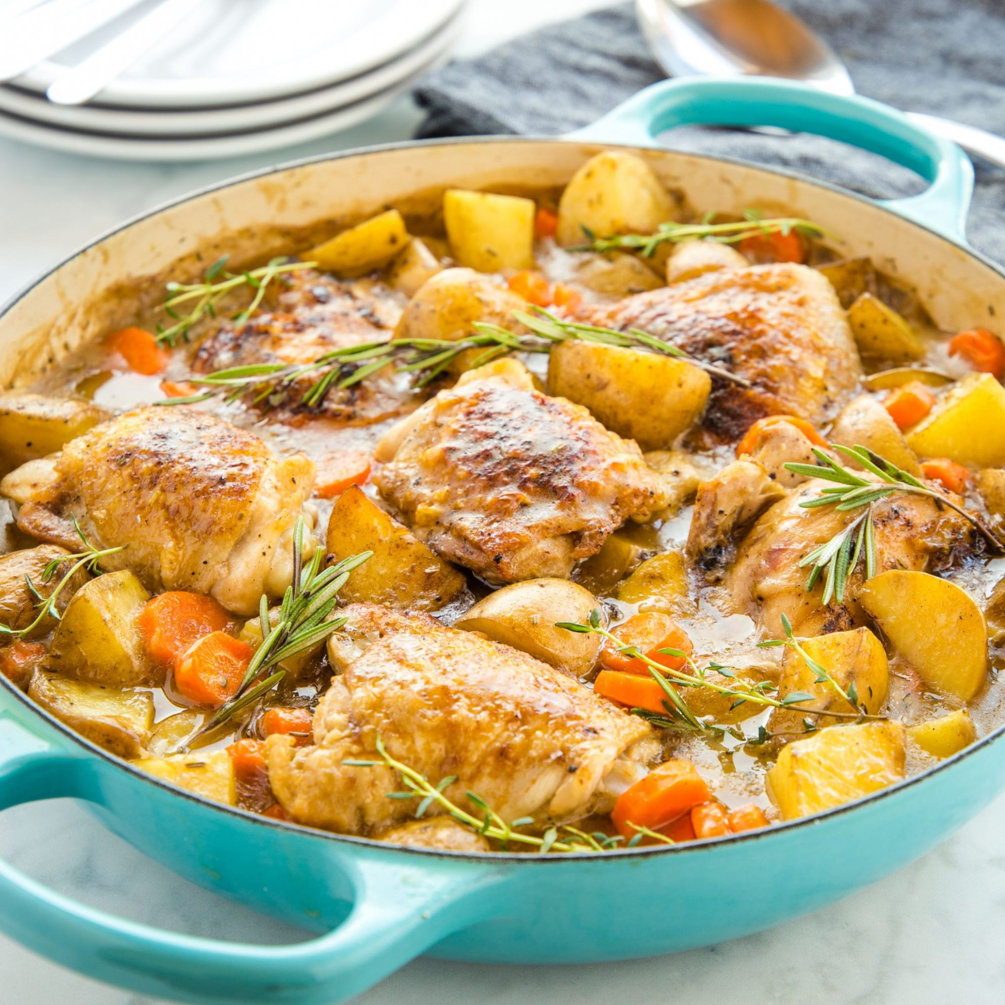 Easy One Pot Roasted Chicken Dinner - Recipes Chicken One Pot