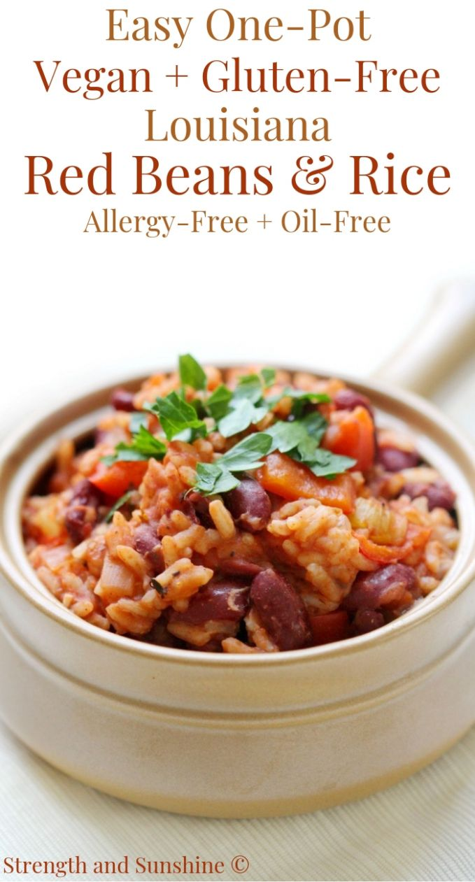 Easy One-Pot Vegan Gluten-Free Louisiana Red Beans & Rice (Allergy-Free) - Recipe Vegetarian Red Beans And Rice