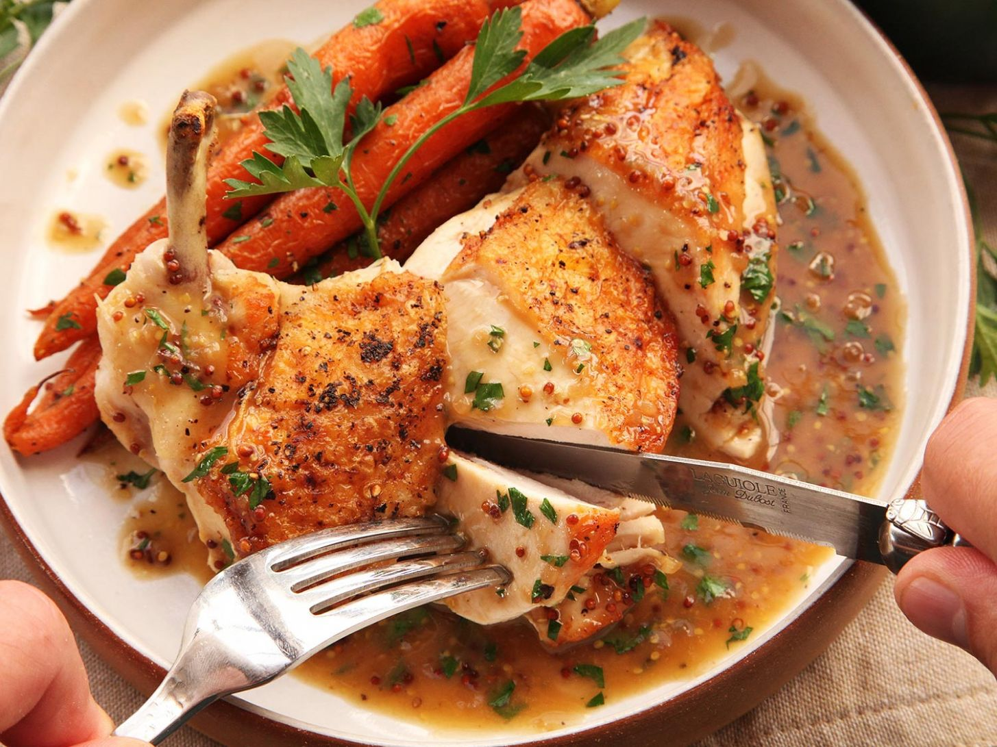 Easy Pan-Roasted Chicken Breasts With Bourbon-Mustard Pan Sauce Recipe - Recipes Chicken Breast Skillet