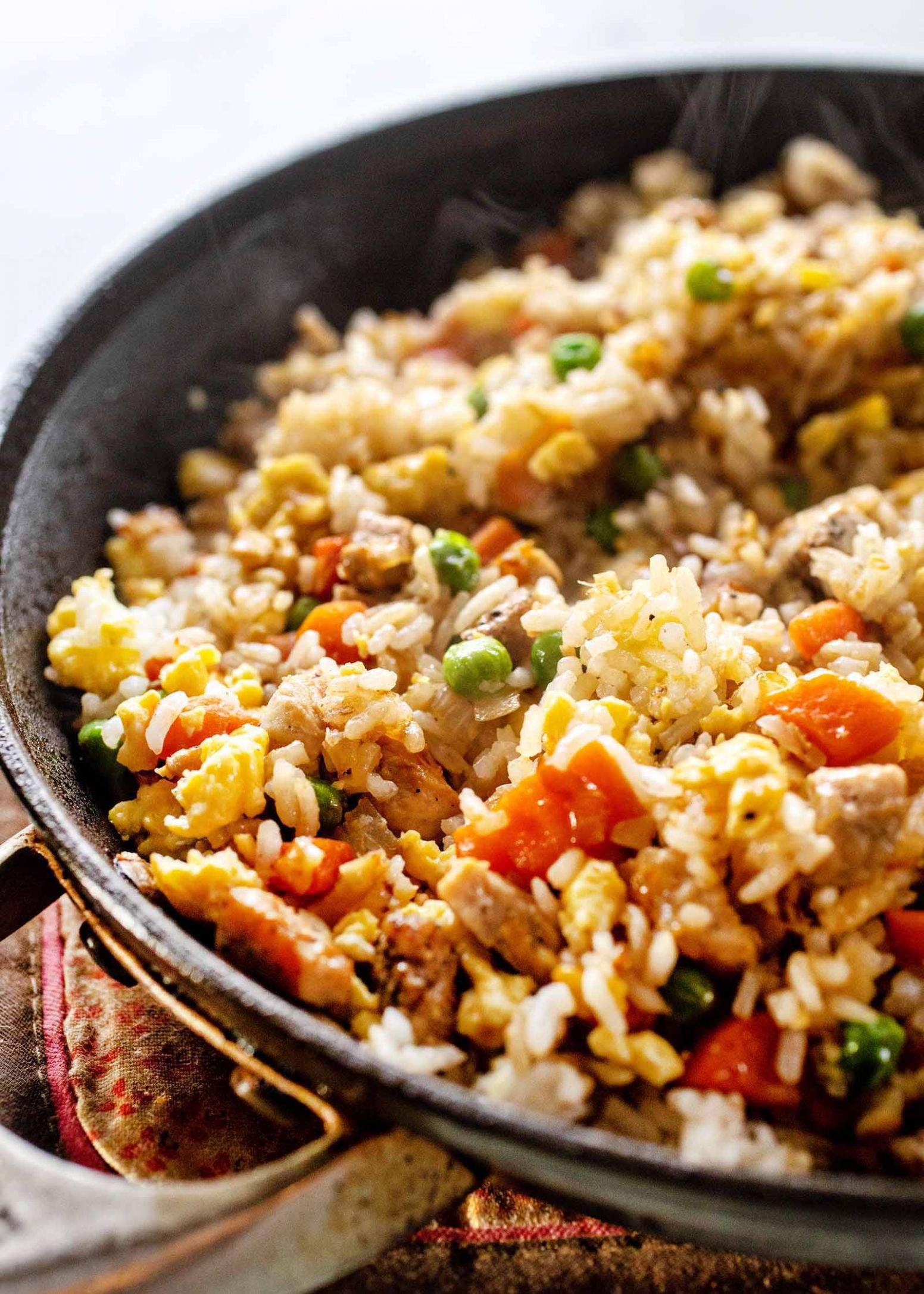 Easy Pork Fried Rice with Frozen Vegetables - Recipes Pork On Rice