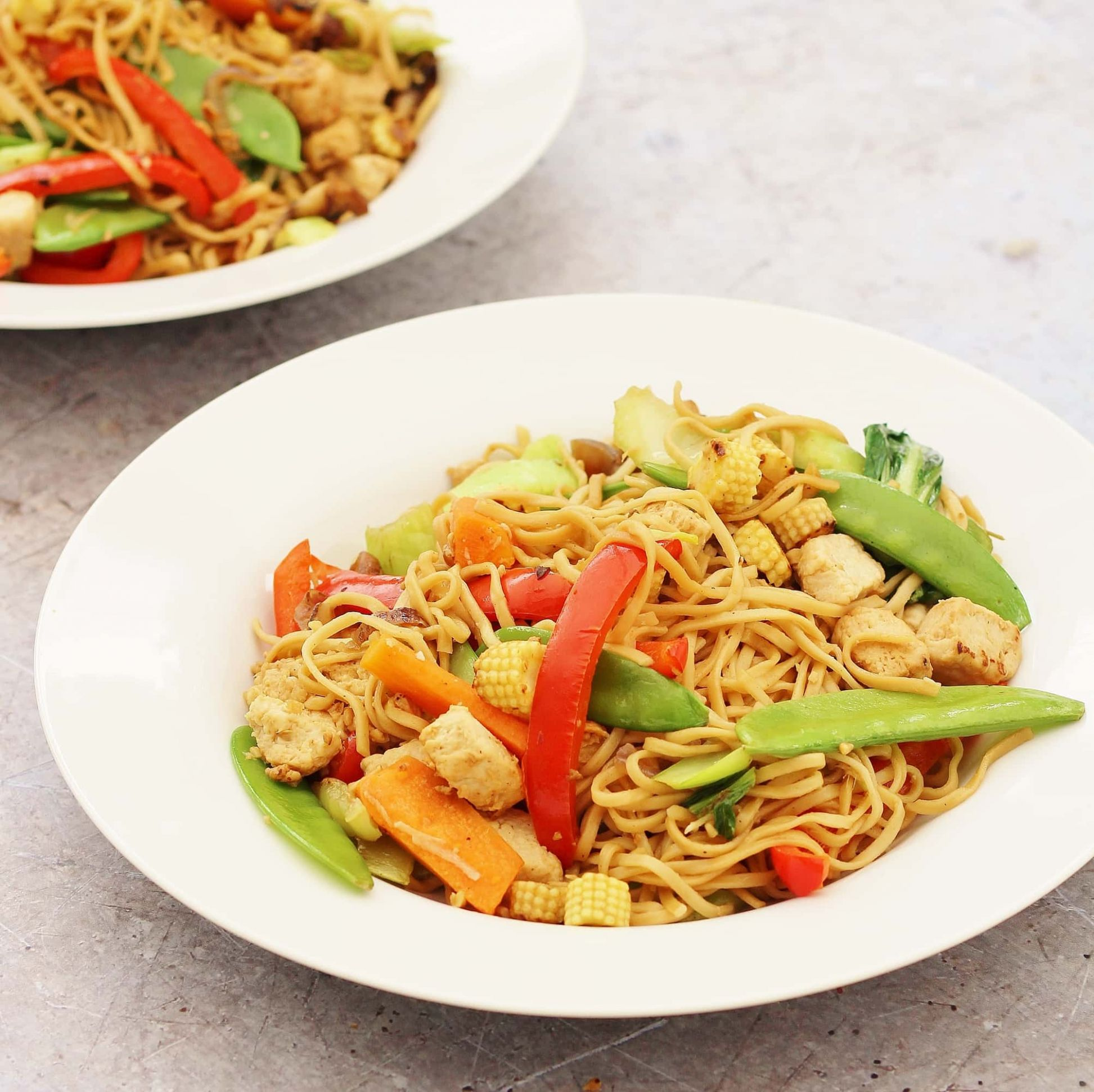 Easy Quorn Stir Fry with Noodles - Simple Quorn Recipes
