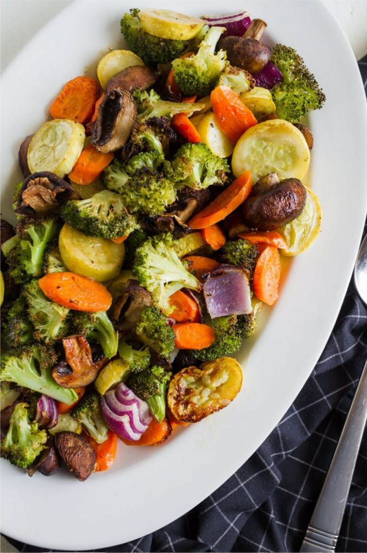 Easy Roasted Vegetables - Vegetable Recipes Healthy Side Dish