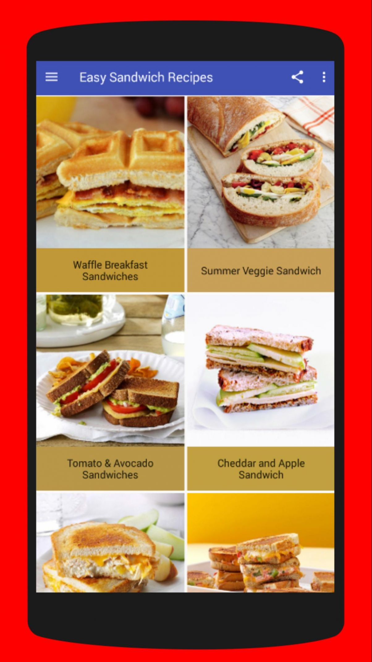Easy Sandwich Recipes for Android - APK Download - Sandwich Recipes Download