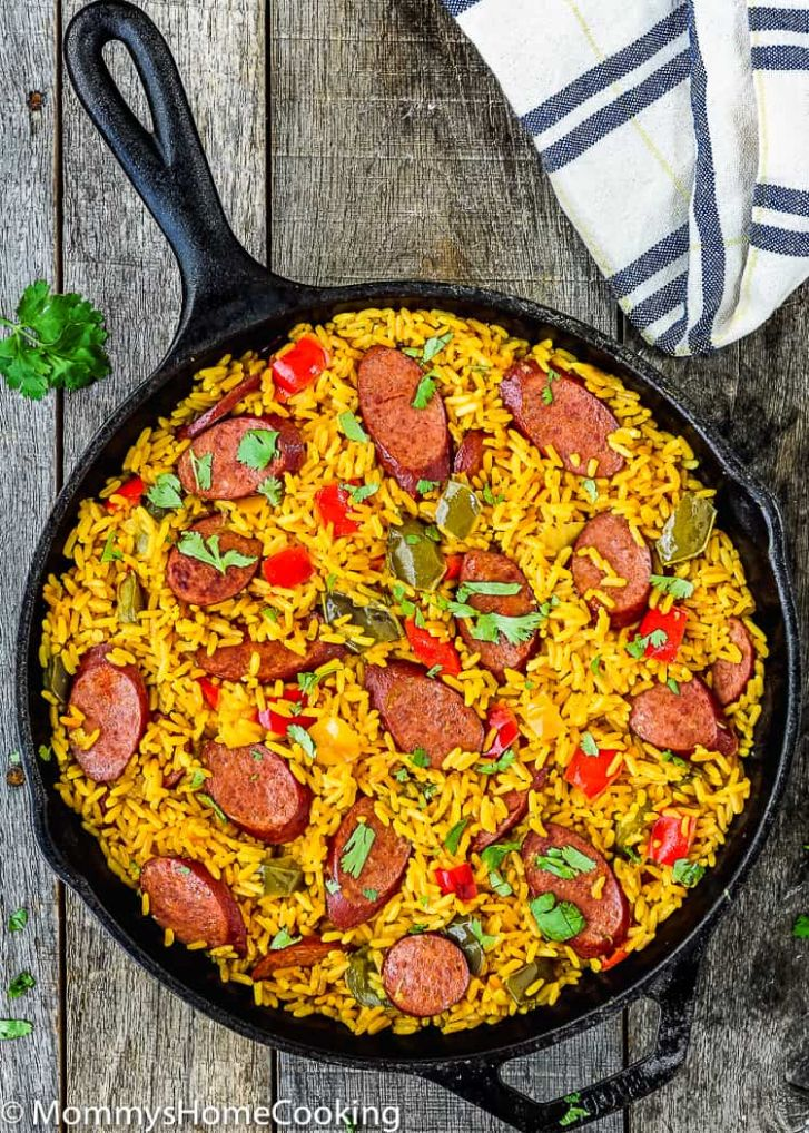Easy Sausage and Peppers Rice Skillet - Recipes Rice Sausage