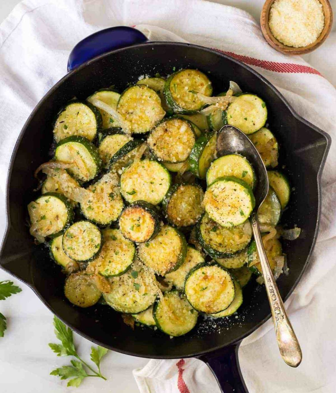 Easy Sautéed Zucchini with Parmesan - Food Recipes Zucchini