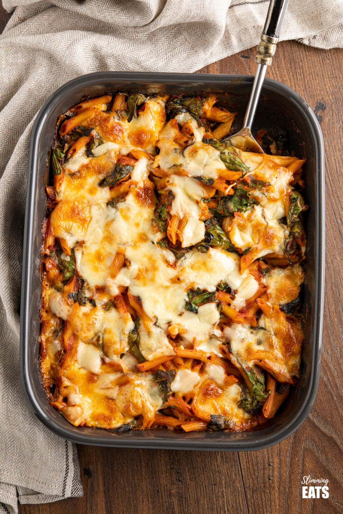 Easy Spinach Pasta Bake | Slimming Eats Recipes