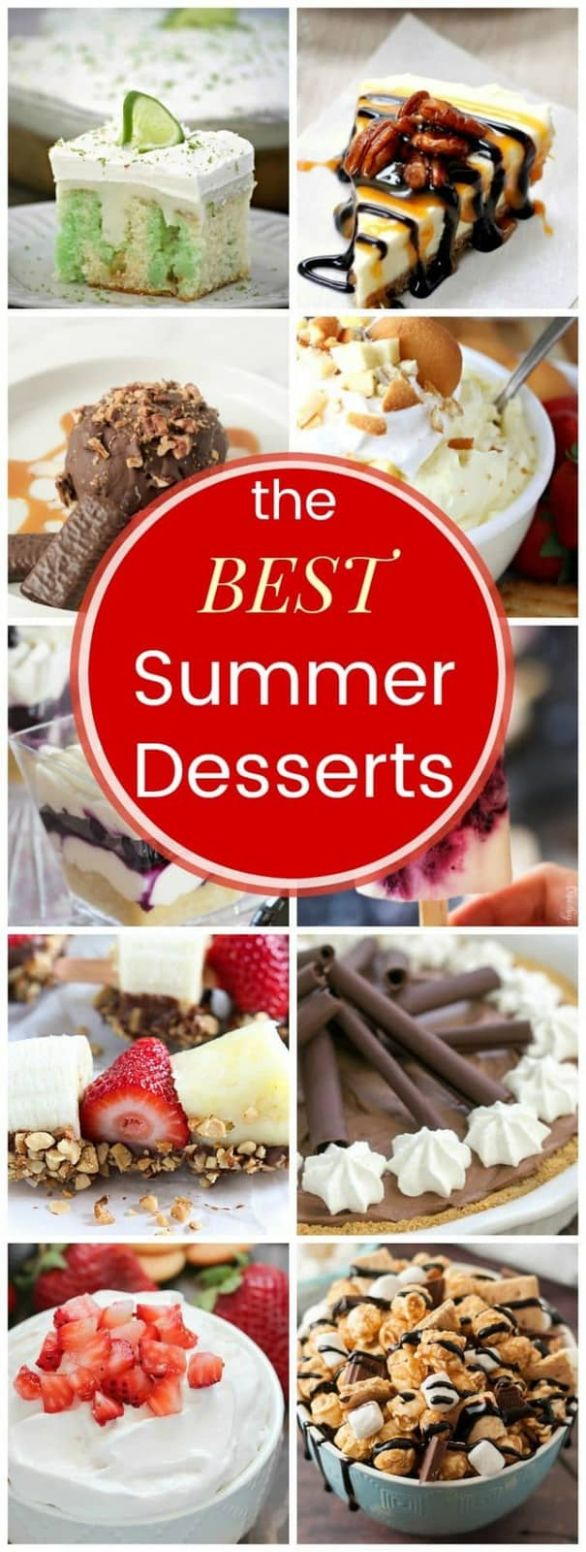Easy Summer Desserts for Any Occasion - Cupcakes & Kale Chips - Recipes Easy Summer Desserts