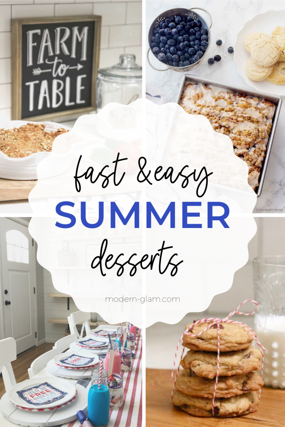 Easy Summer Desserts for Parties - Modern Glam - Recipes Easy Summer Desserts