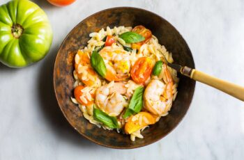 Easy Summer Orzo with Shrimp and Basil : recipes