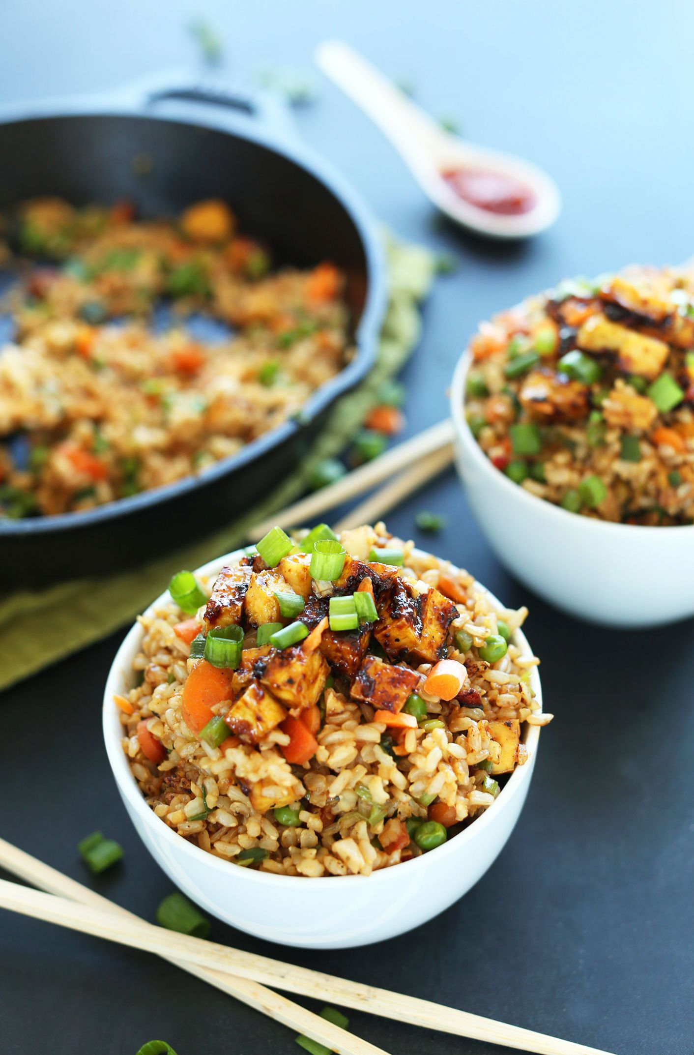 Easy Vegan Fried Rice - Vegetable Recipes Easy Healthy