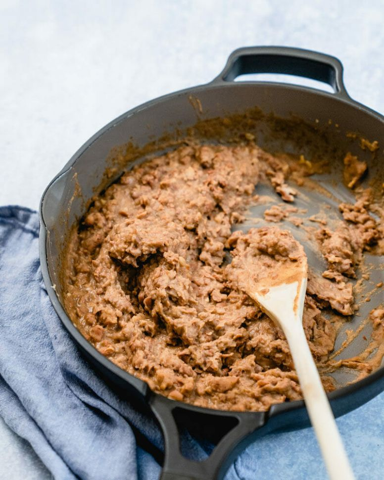 Easy Vegan Refried Beans (WAY Better than Canned!) – A Couple Cooks - Recipe Vegetarian Refried Beans