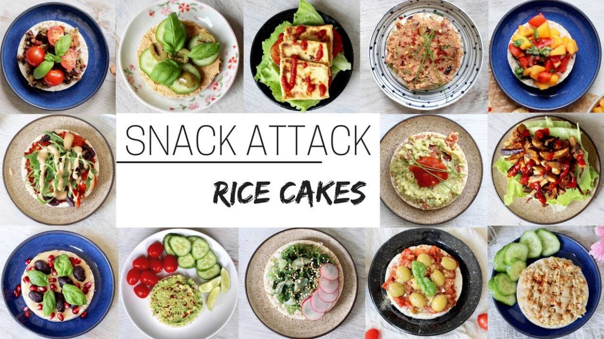 EASY VEGAN SNACKS » for after school & work (rice cakes part 12) - Recipes With Quaker Rice Cakes