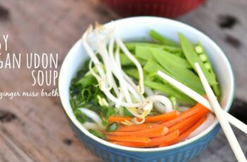 Easy Vegan Udon Soup with Ginger Miso Broth
