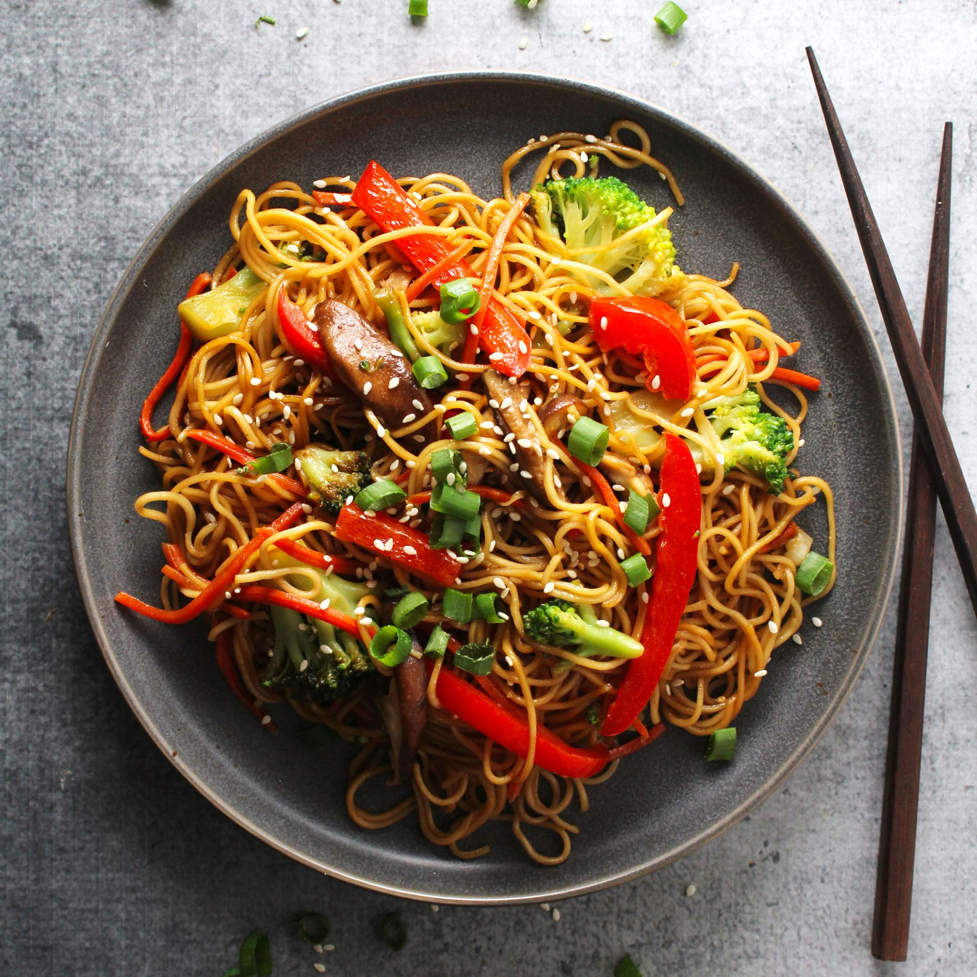 Easy Vegetable Lo Mein - Recipes Vegetable Lo Mein