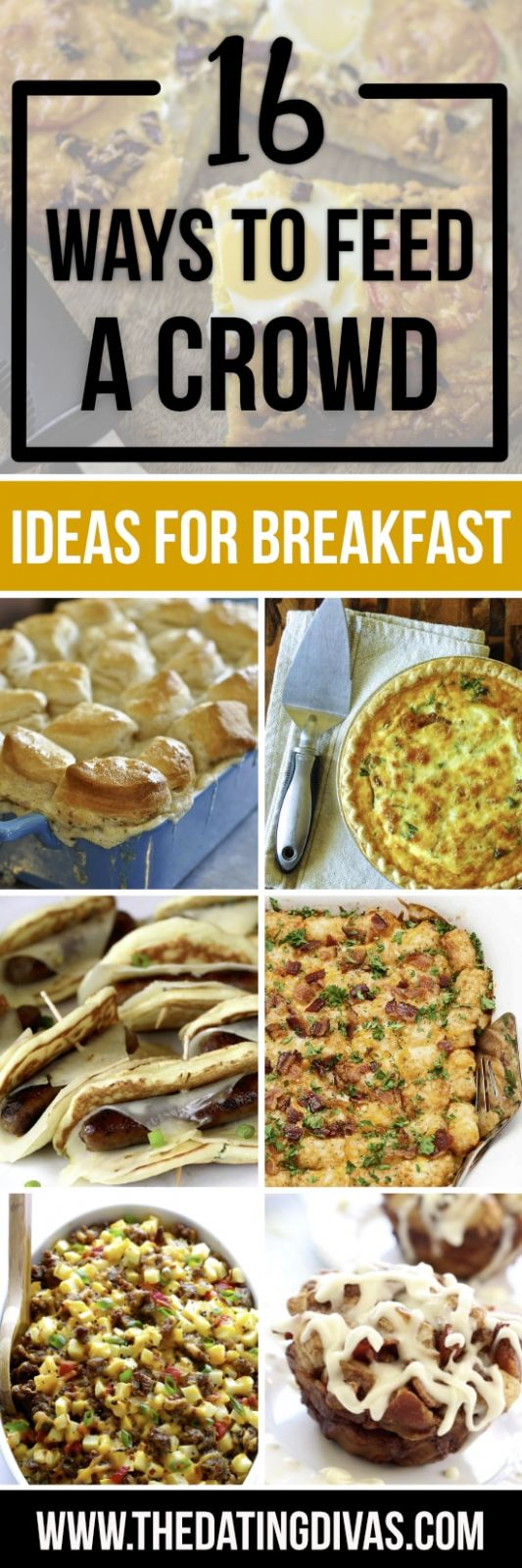 Easy Ways to Feed a Crowd - From The Dating Divas - Breakfast Recipes For A Crowd